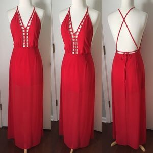 Forever 21 Cage Front Maxi Dress